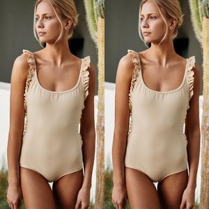 Free People x Made By Dawn Ruffle Petal One-Piece